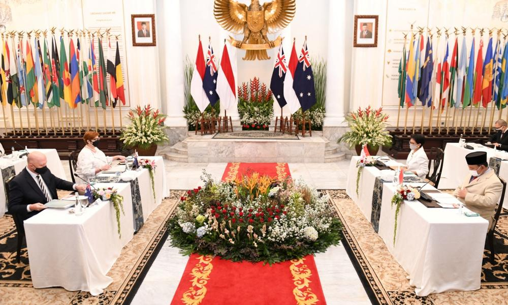 Australian foreign minister Marise Payne and defence minister Peter Dutton meet with Indonesian foreign minister Retno Marsudi and defence minister Prabowo Subianto in Jakarta.