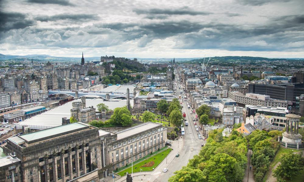 The view from Calton Hill towards the Old Town