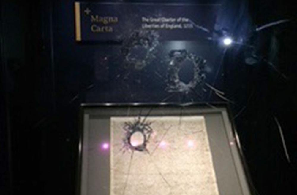 Bystanders and glass case foiled plot to steal Magna Carta, court told