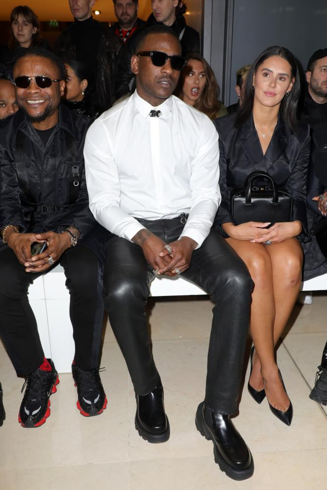 Skepta front row at the Alyx show in January 2020.