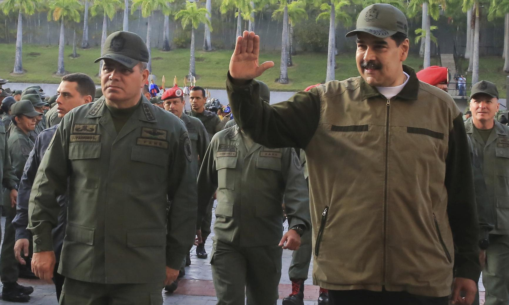 Venezuela: Maduro thanks military and denounces 'senseless coup-mongers and traitors'