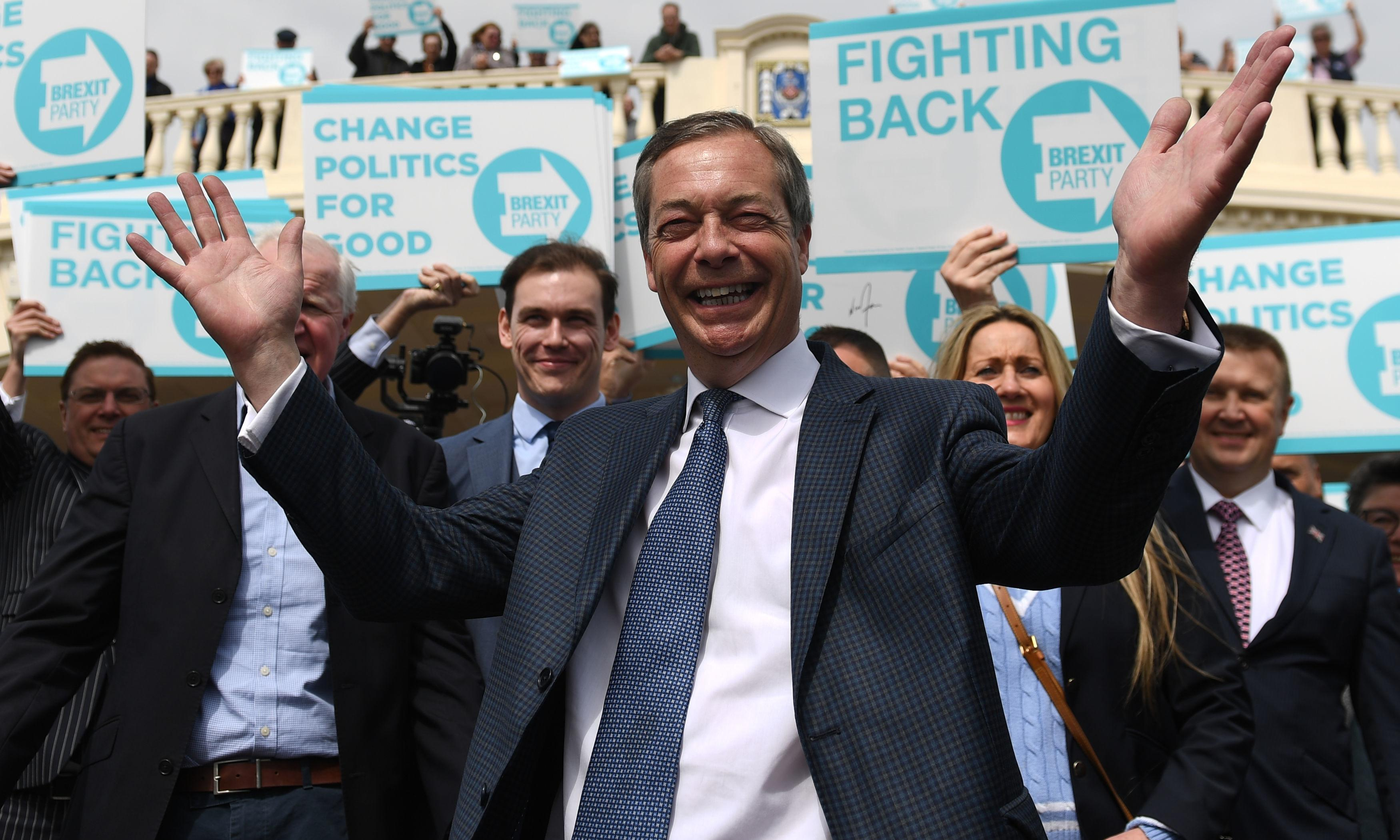 Farage: Brexit party will use EU poll to oust 'remain parliament'