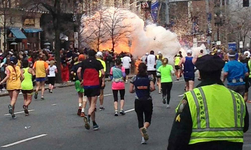 Bombs exploded near the finish line of the Boston marathon on April 15, 2013. The jury in thbombing trial sentenced Dzhokhar Tsarnaev to death May 15, 2015, for helping to carry out the 2013 attack that killed three people and injured 264. His co-conspirator brother Tamerlan was killed by police in pursuit of the terrorist pair.