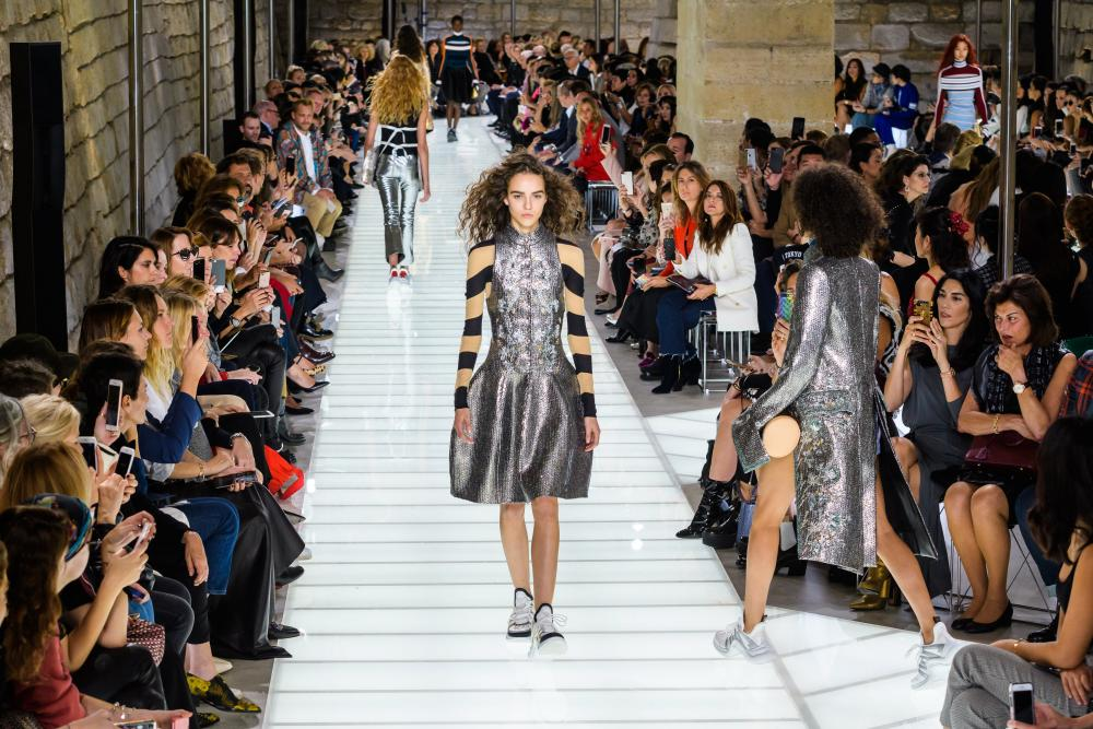 Runway show of French designer Nicolas Ghesquiere for Louis Vuitton