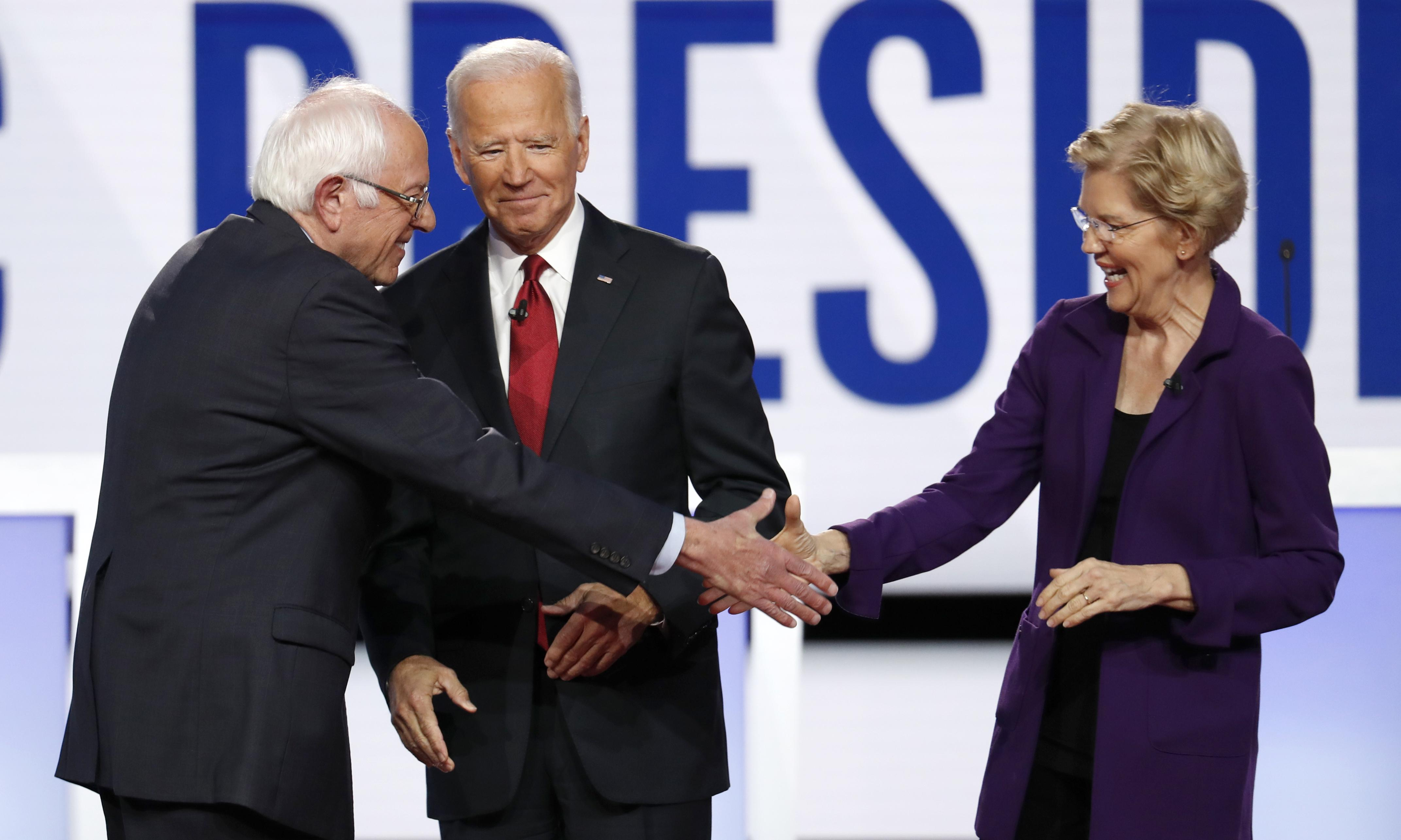 Sanders and Warren build big war chests as Biden fundraising lags behind