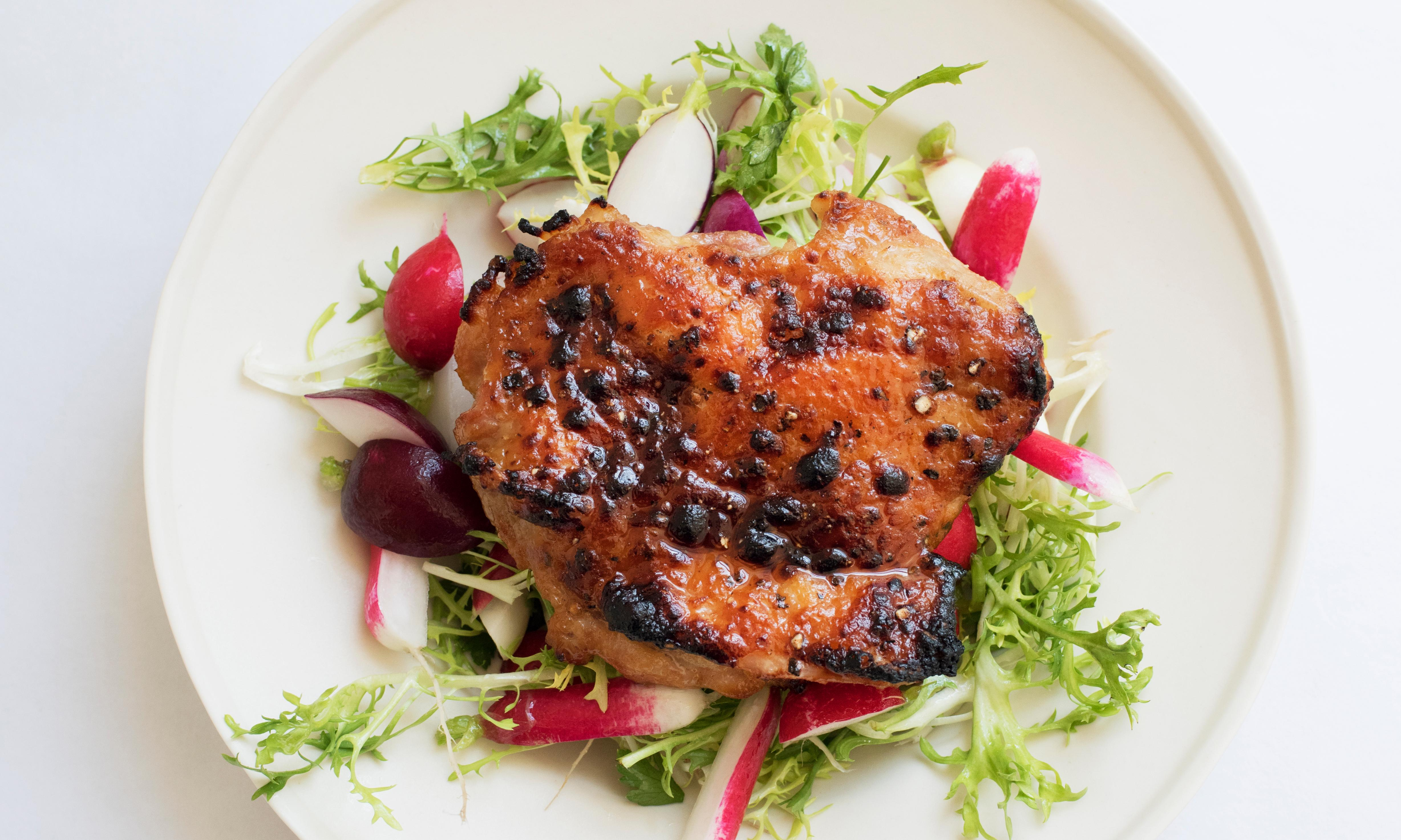 Nigel Slater's grilled chicken with miso recipe