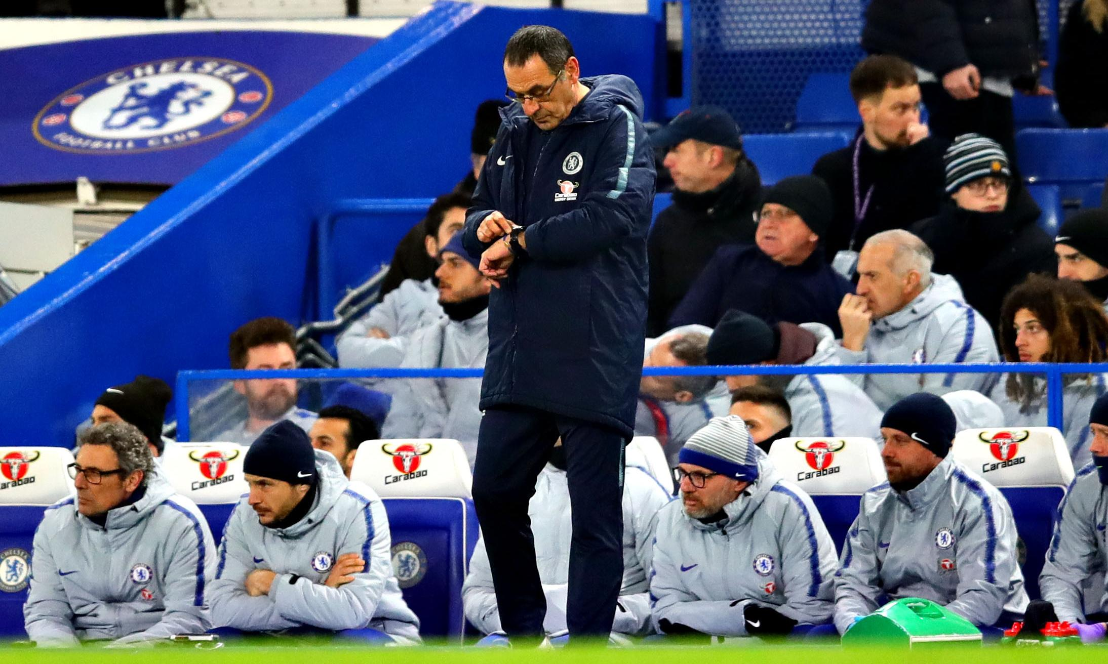 Maurizio Sarri heads to Carabao Cup final as Chelsea's dead man walking