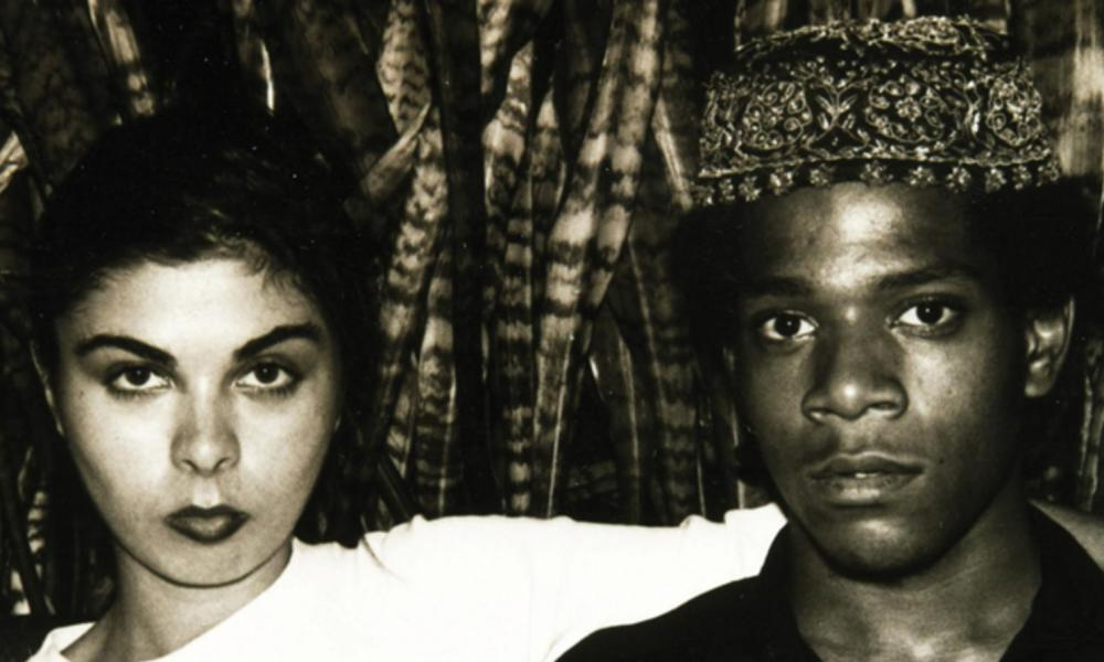 Basquiat with then girlfriend Suzanne Mallouk.