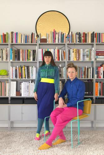 Colourful … Lara Lesmes and Fredrik Hellberg