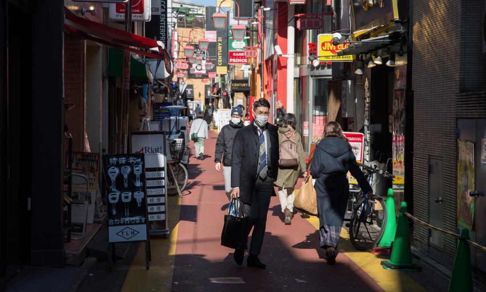 A shopping street near Jiyugaoka, Japan.