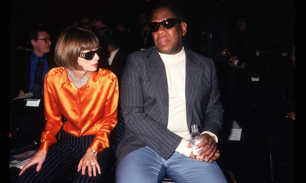 Wintour and Talley in New York in 1996.