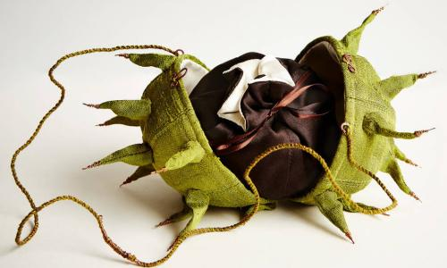 Horse chestnut bag made by Emily Jo Gibbs in 1996.