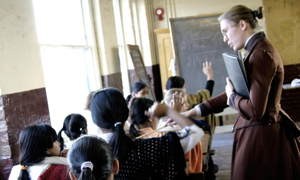A Victorian School Lesson at Ragged School Museum, east London
