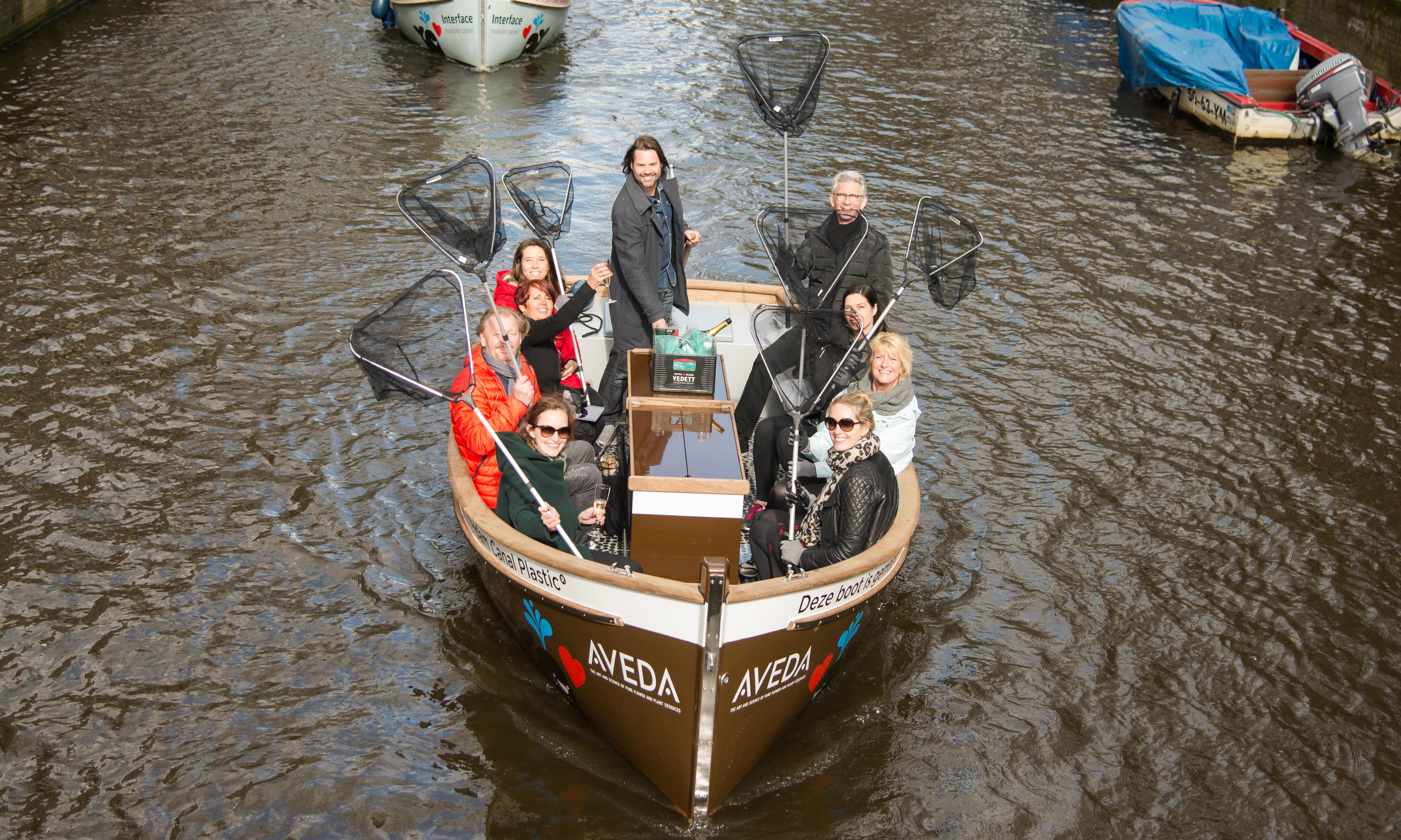 Fishing for plastic: the Amsterdam canal tour with a difference