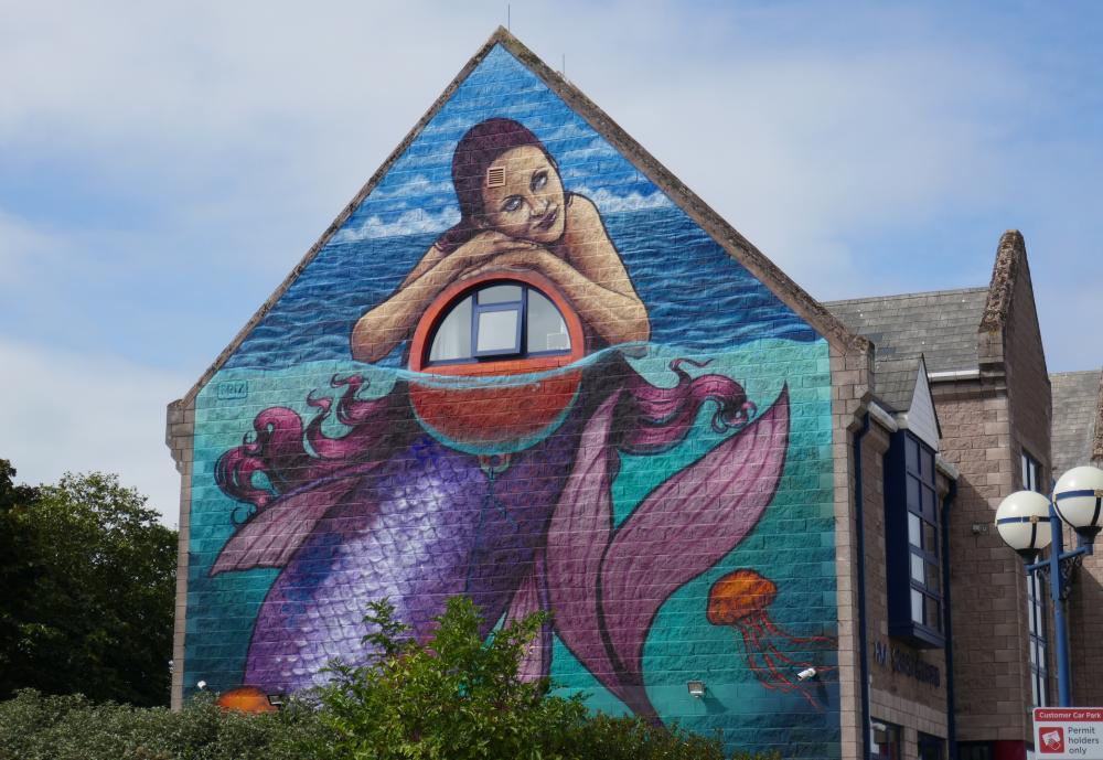 Street art in Bangor.