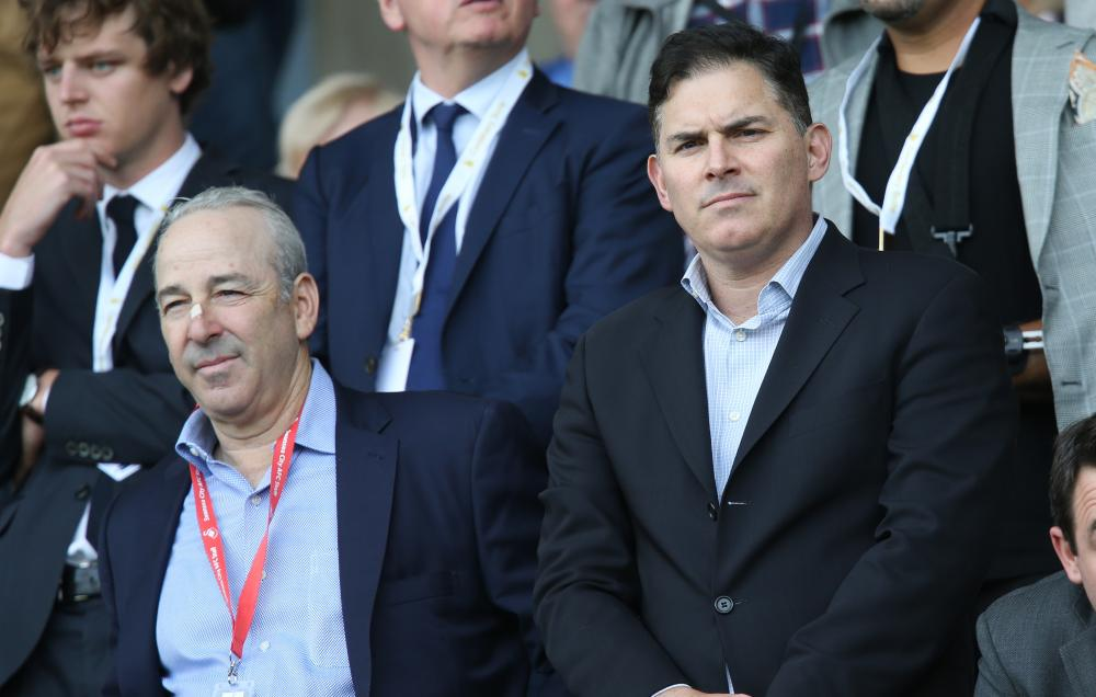 Swansea City owners Steve Kaplan, left and Jason Levien.