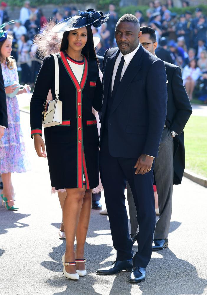 Idris Elba and Sabrina Dhowre at the wedding.
