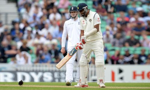 India's Ravichandran Ashwin (right) during day one of the Fifth Test at The Kia Oval, London.