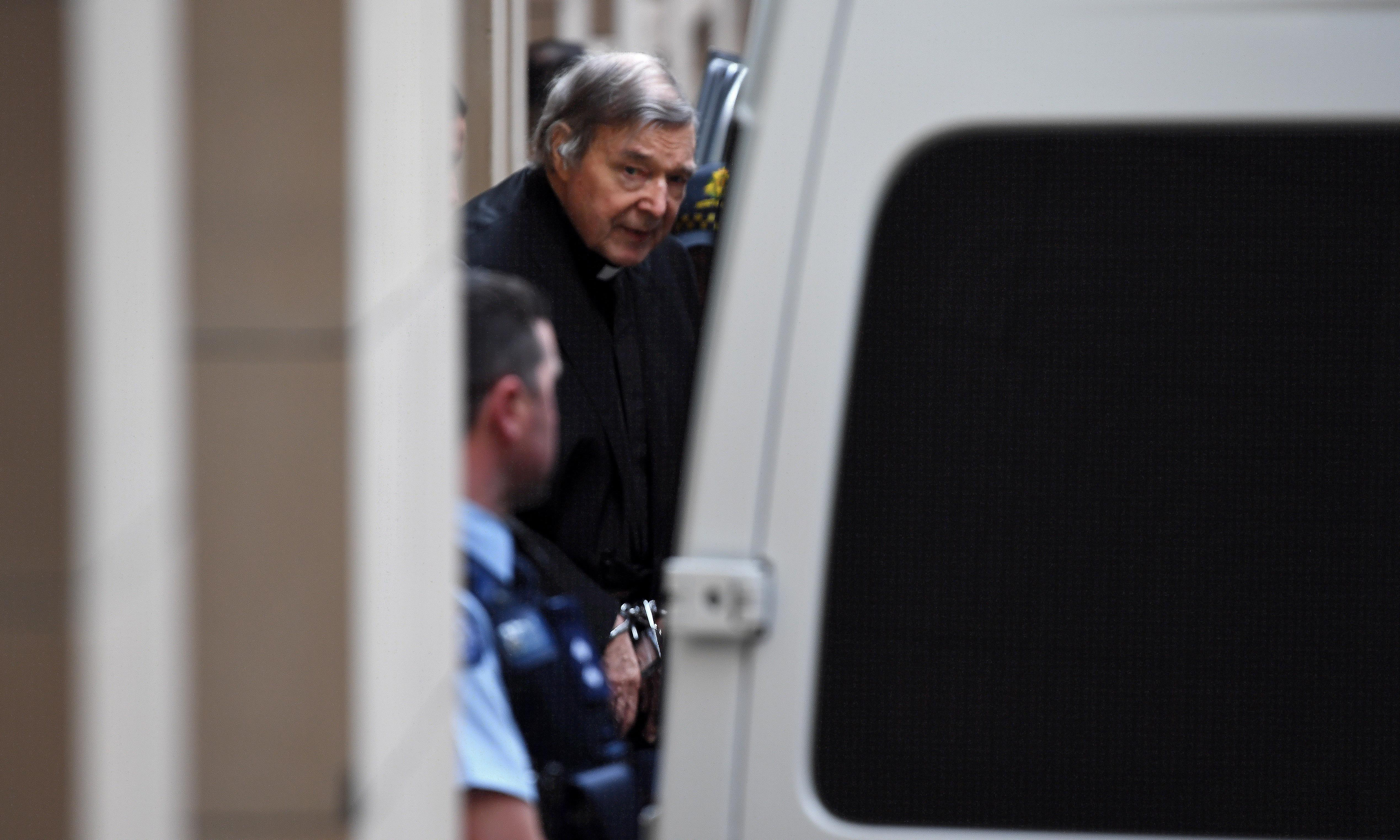 At the verdict George Pell didn't flinch; he just pursed his lips a little. He was going back to jail