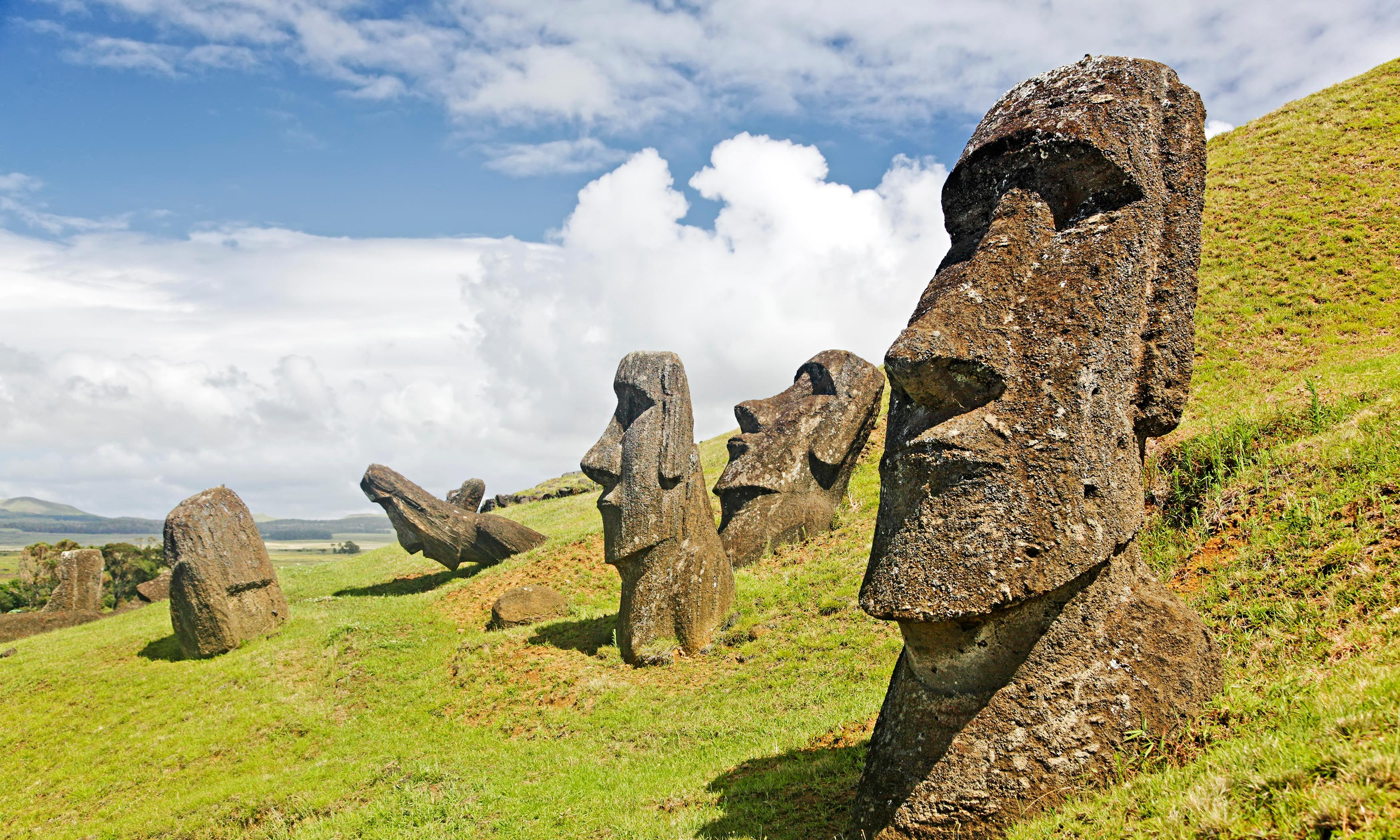 Easter Island looks for help to save statues from 'leprosy'