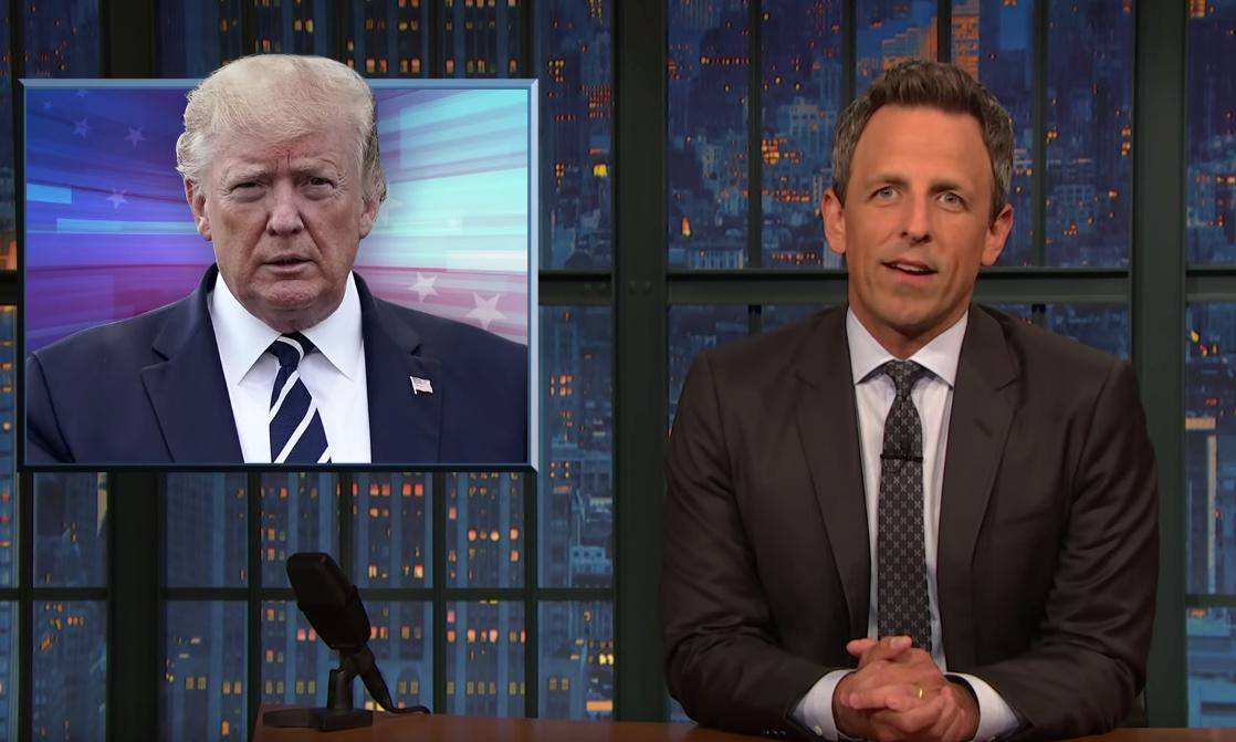 Seth Meyers on Trump: 'Lying for him is as natural as breathing'