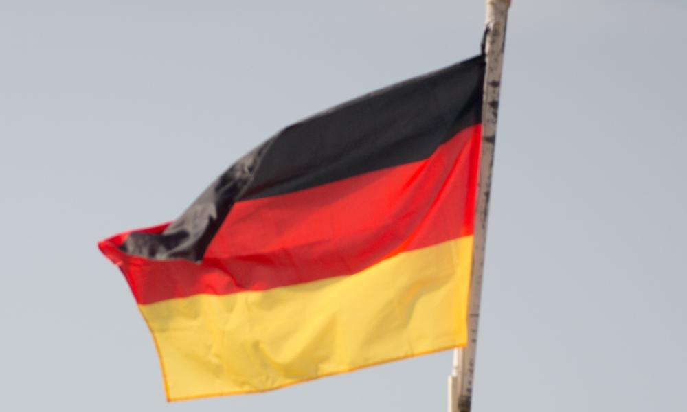 German Defence Minister von der Leyen in Afghanistan<br>07 Dec 2015, Mazar-e Sharif, Afghanistan --- The German and Afghan flags flap in the wind at Camp Shaheen, a field camp for the Afghan Army, near Mazar-i-Sharif, Afghanistan, 07 December 2015. The German Defence Minister is on a 2-day visit to Afghanistan. Photo: KAY NIETFELD/dpa --- Image by © Kay Nietfeld/dpa/Corbis