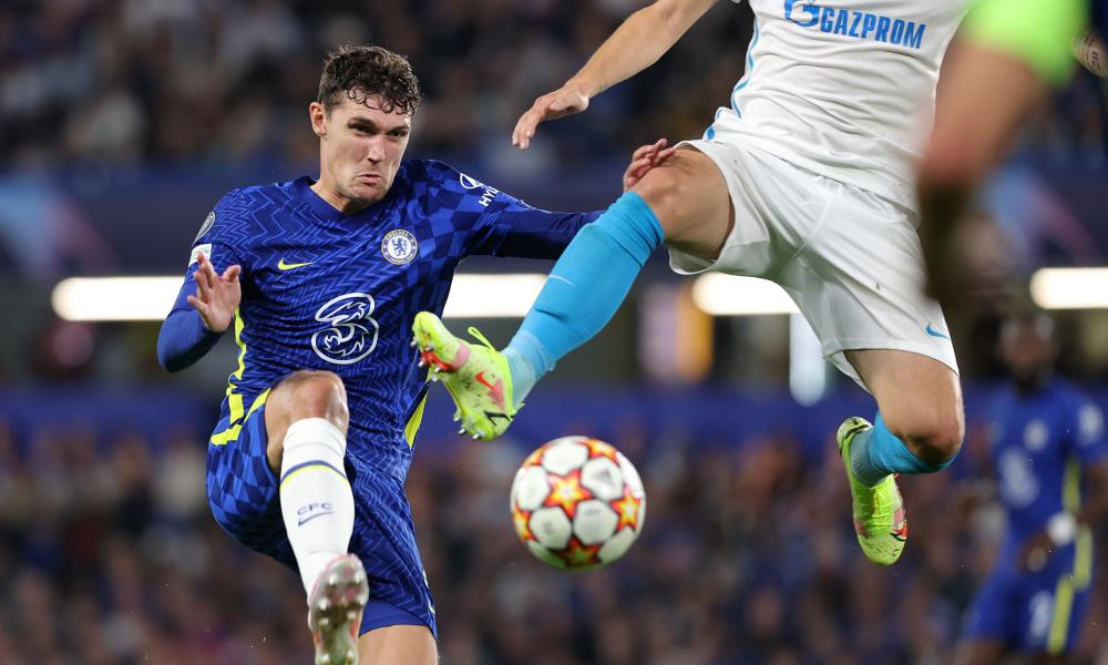 Andreas Christensen of Chelsea in action.