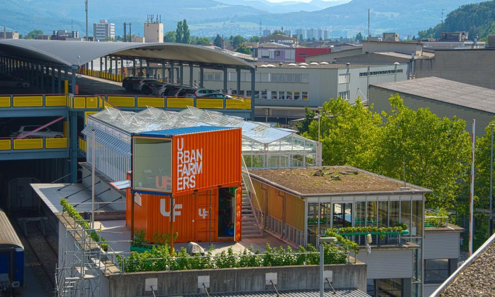Swiss aquaponics enterprise Urban Farmers on the rooftop of De Schilde.