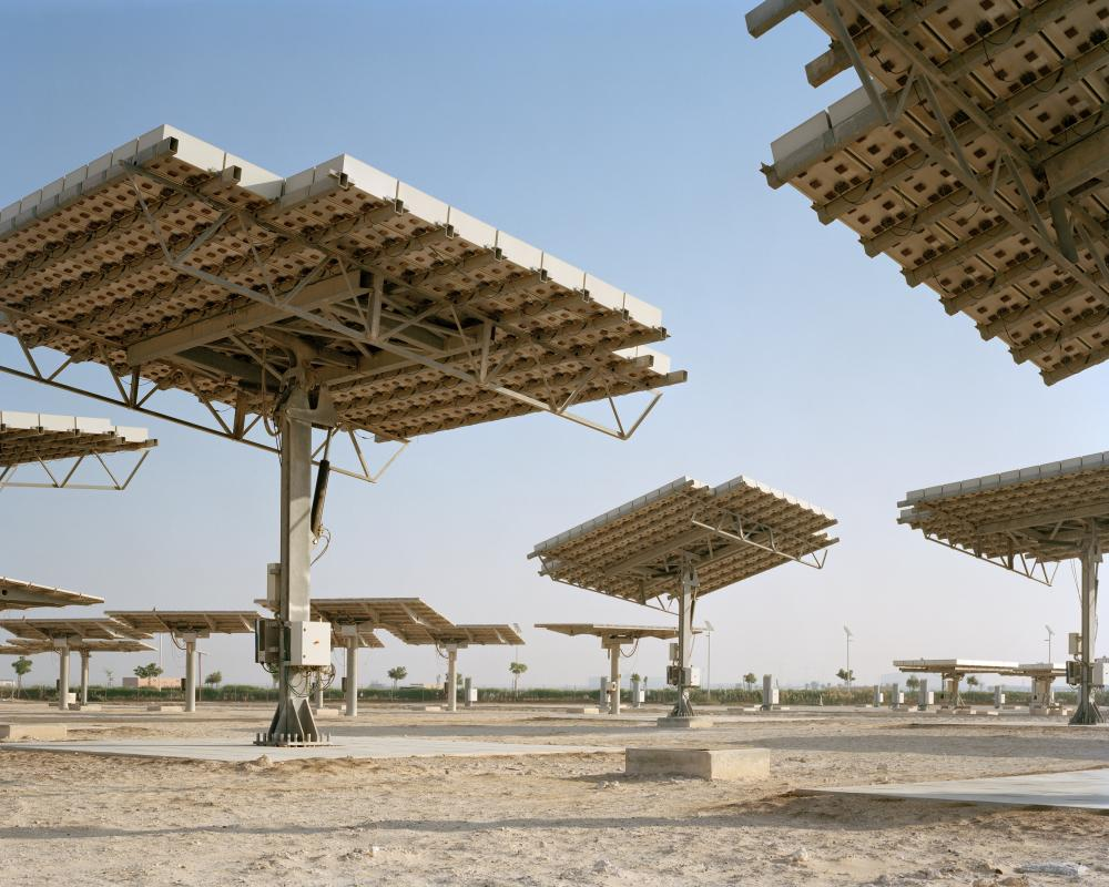 Masdar City, the world's first carbon-neutral, zero-waste city. From The Future Starts Here at the V&A Museum.