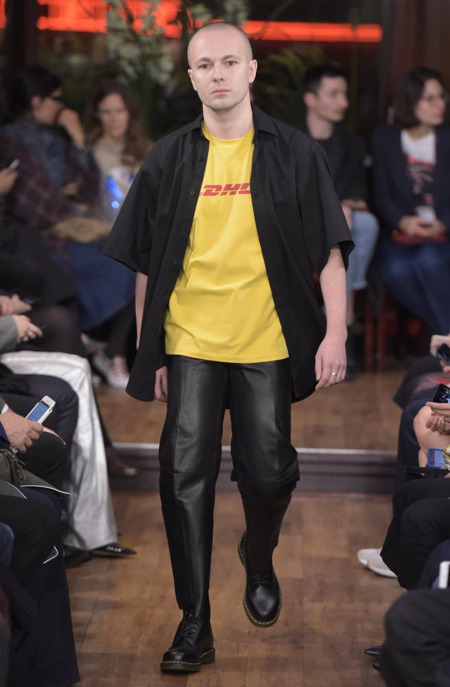 Vetements put a DHL T-shirt on the runway last autumn