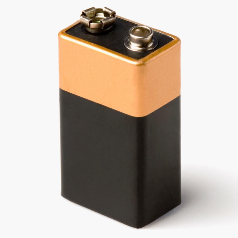 Close-up of a battery