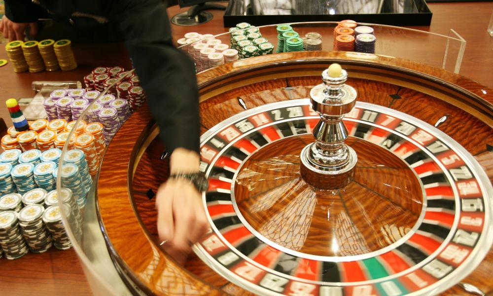 A roulette wheel in a Macau casino
