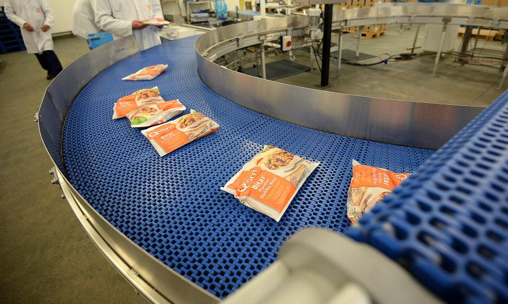 Quorn pieces being prepared for shipping to Scandinavia