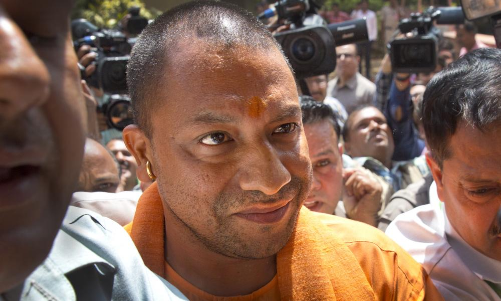 Yogi Adityanath, the hardline Hindu leader, prepares to meet party leaders.