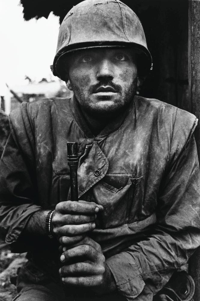 Shell-shocked US marine, The Battle of Hue, 1968, Don McCullin