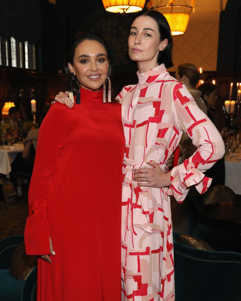 Ghizlan Guenez, left, and supermodel Erin O'Connor.