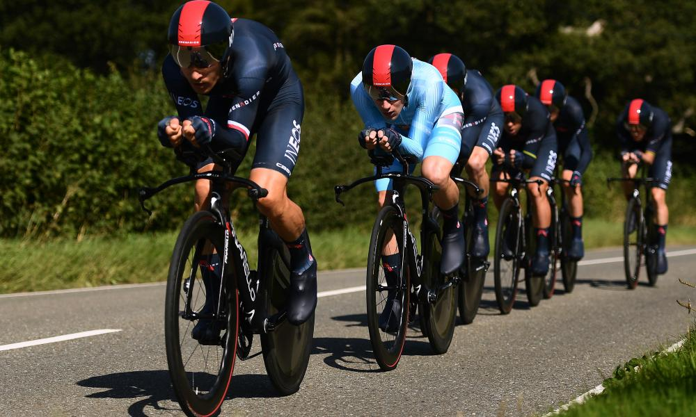 Ethan Hayter and his Ineos teammates at the Tour of Britain