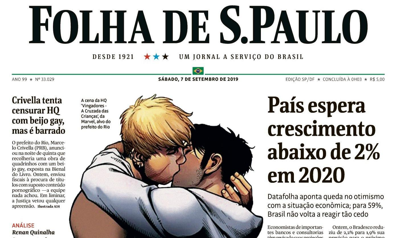 Brazil paper publishes gay kiss illustration in censorship row