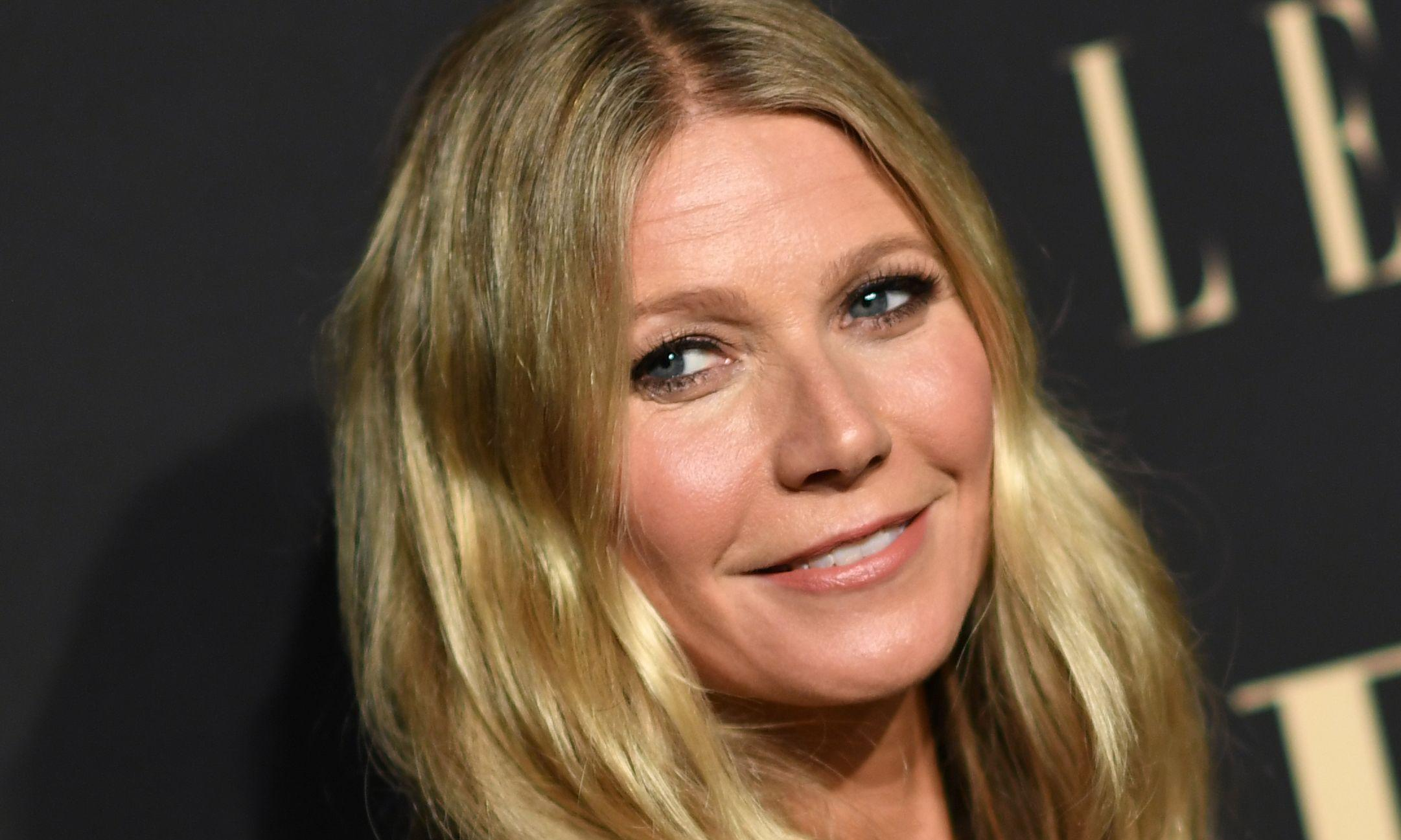Gwyneth Paltrow suits up for the new high-fashion fad: 'boob armour'