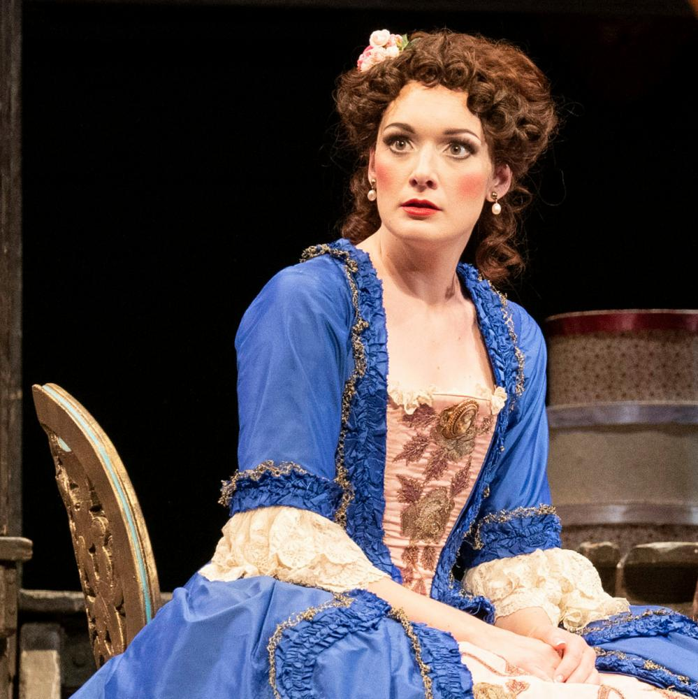 A pert and graceful presence... Heather Lowe as Rosina in WNO's Barber of Seville