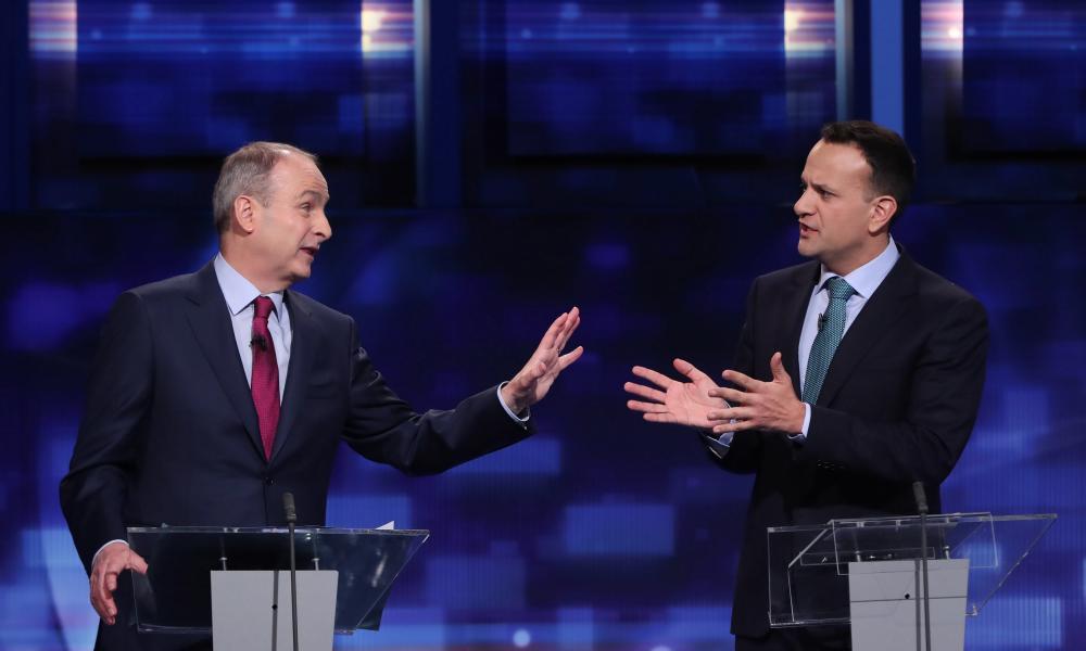 The Fianna Fáil leader, Micheál Martin, and his Fine Gael counterpart, Leo Varadkar