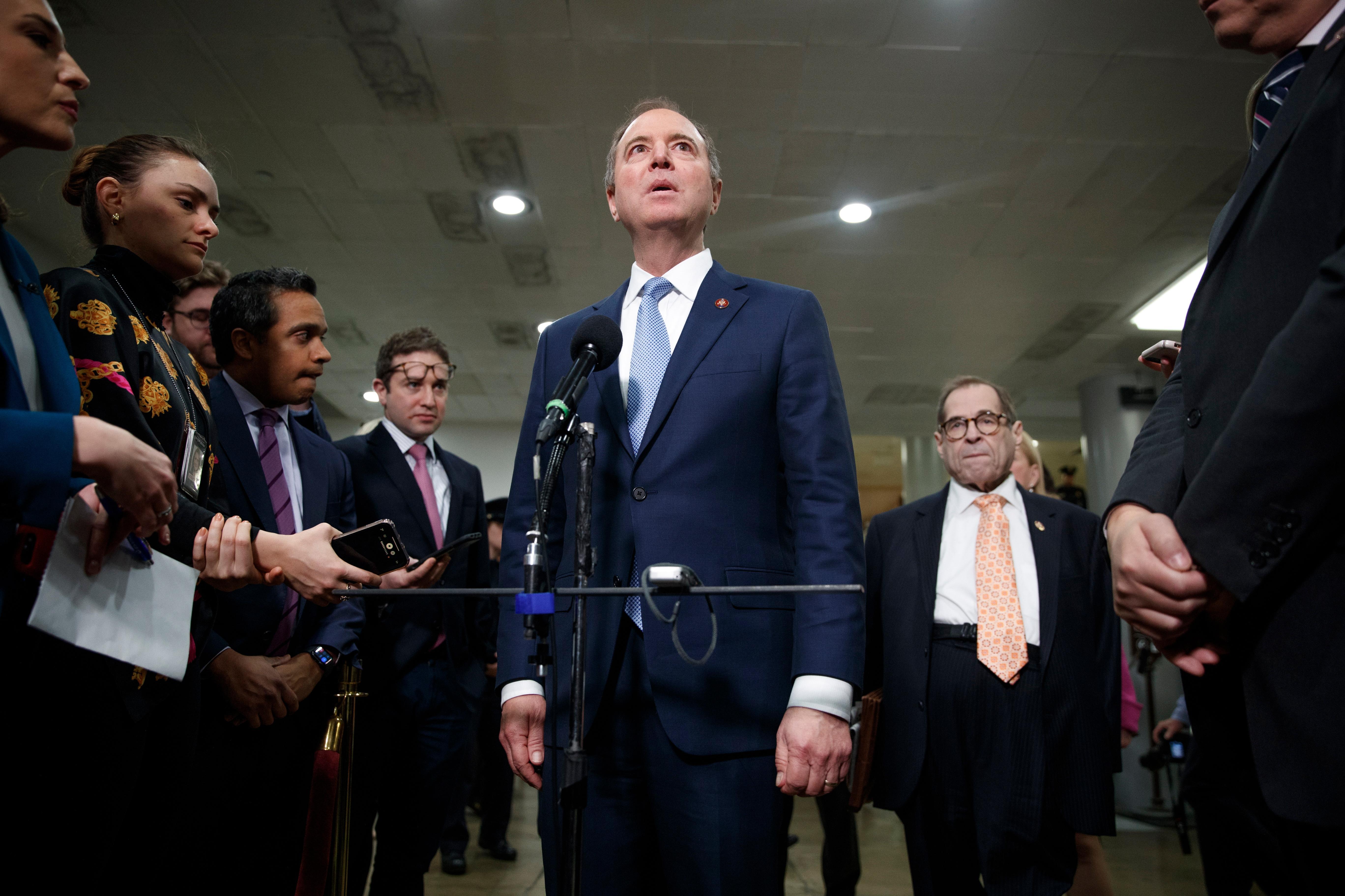 Democrats focus on Ukraine 'cover-up' as marathon impeachment case wraps