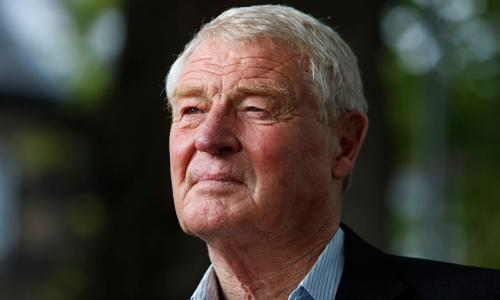 Paddy Ashdown seen before speaking at the Edinburgh International Book Festival, Edinburgh, Scotland. UK