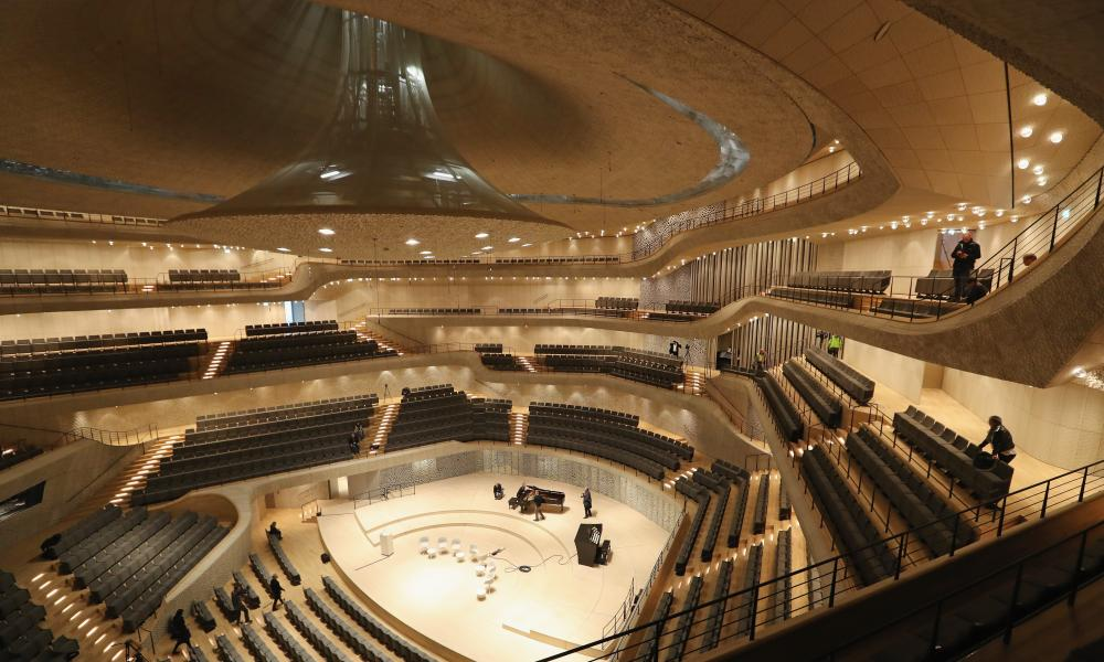 'A coral cave' … the main concert hall.