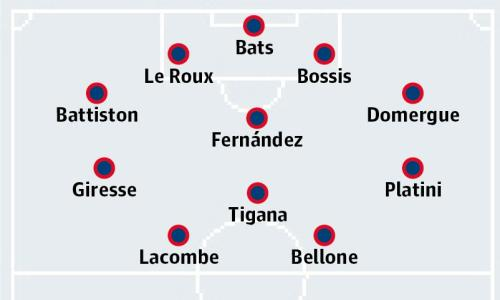 France's starting XI for the 1984 final
