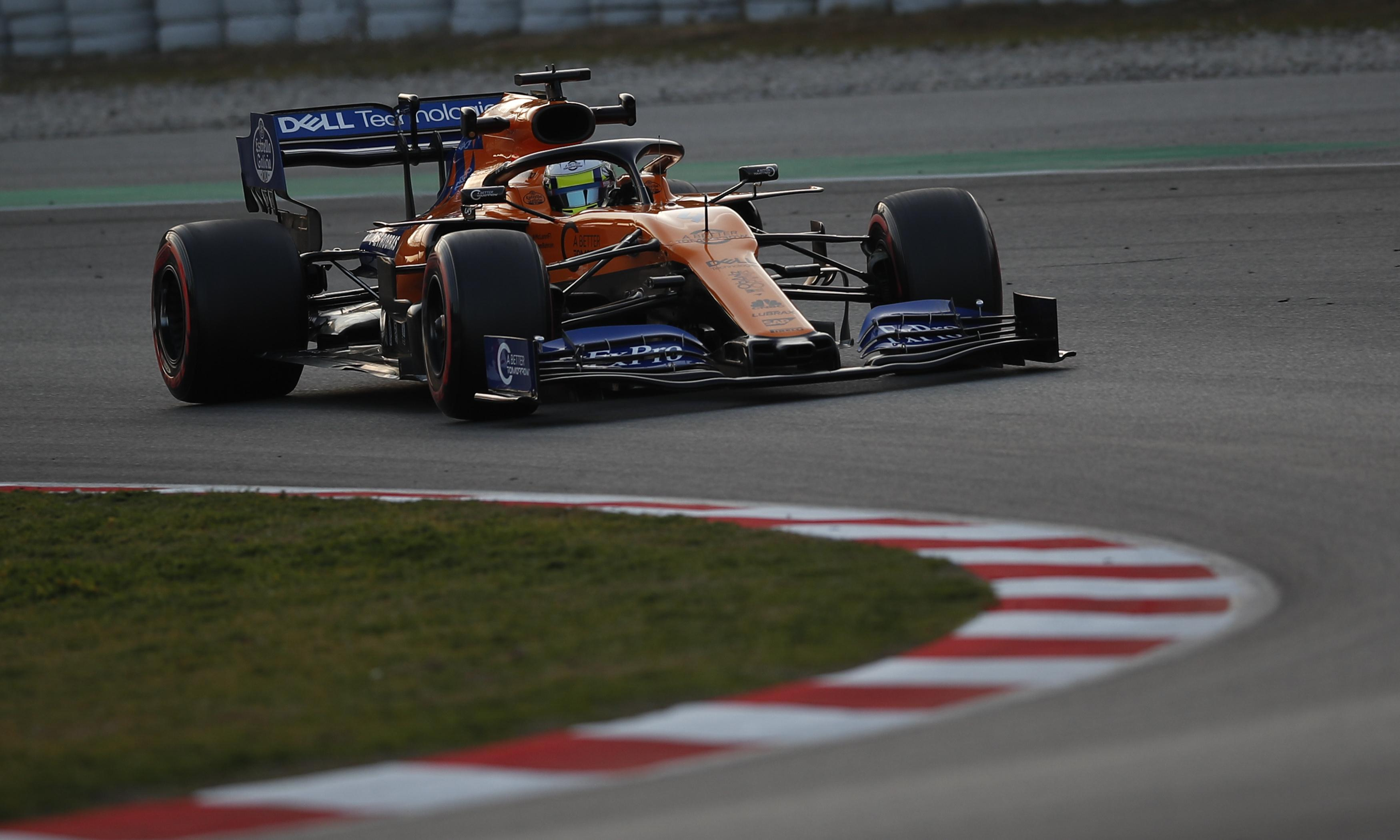 British driver Lando Norris makes a fast start on F1 track bow for McLaren