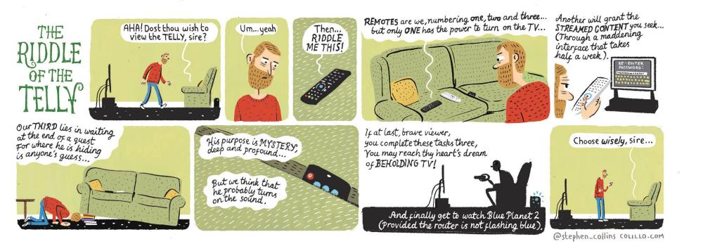 Stephen Collins cartoon remote