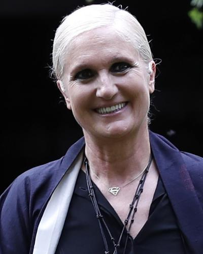 Italian designer Maria Grazia Chiuri, creative director of Christian Dior.