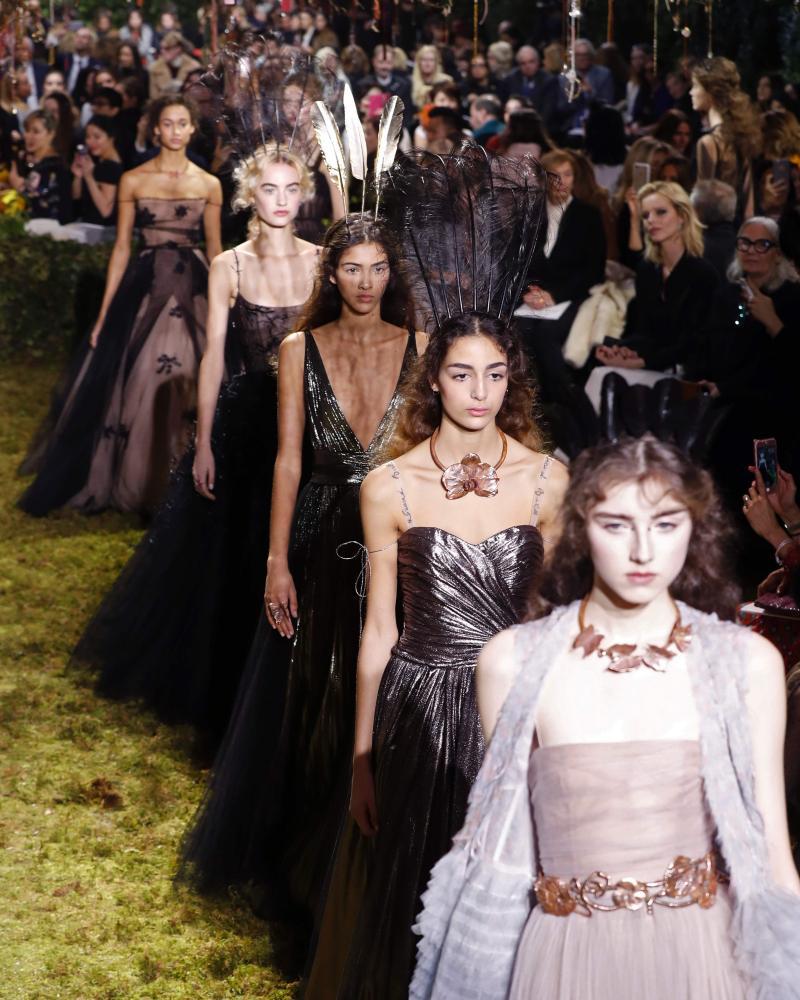 The Dior show built towards a crescendo of fantastical eveningwear