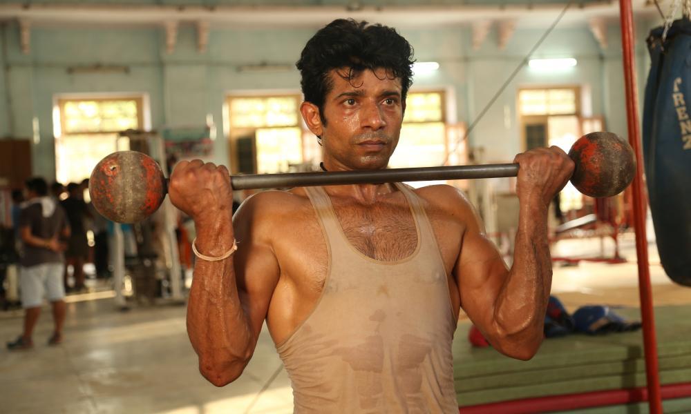 Bristling … Vineet Kumar Singh as Shravan in The Brawler (Mukkabaaz)